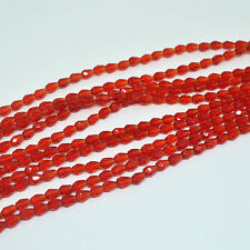 50pcs 5x3mm red Faceted Teardrop crystal glass Jade Spacer beads*