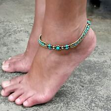Summer Ankle Bracelet - Turquoise Anklet, Hippie Anklet, Bead Ankle bracelet.