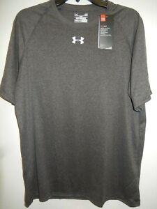 1605-29 Men UNDER ARMOUR Short  Sleeve Shirt 1268471 090 Gray $22.99 New