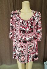 EZIBUY CAPTURE SIZE 20 BOHO TOP IN RED PRINT. CAN BE WORN OFF THE SHOULDER. NWT