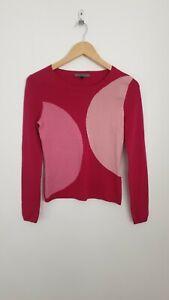 Jaeger Size 6-8 Pink Silk & Cashmere Blend Smart Casual Long Sleeve Knit Jumper