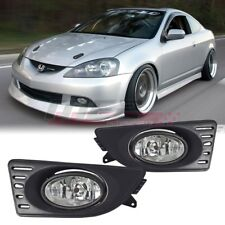 05-07 For Acura RSX Clear Lens Pair Bumper Fog Light Lamp+Wiring+Switch Kit DOT