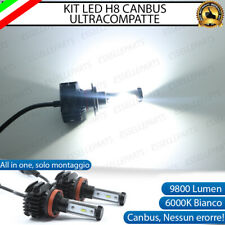 KIT FULL LED LAMPADE H8 6000K BIANCO 9800 LUMEN FENDINEBBIA PER SAAB 9-3 II
