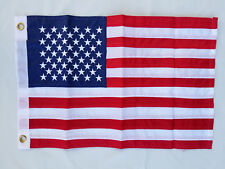 12x18 USA American Embroidered Flag DOUBLE 2 SIDED Boat Flag Grommets FAST SHIP