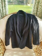 Maine New England Thick Knit Navy Blue Cardigan Size 12