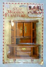 Vintage Dolls House Carded Woolbro Mini Wooden Furniture-Dresser/Display Cabinet