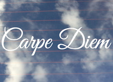 Carpe Diem Decal Seize The Day Vinyl Sticker 200mm Any Colour Buy 2 Get 1 Free