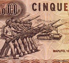 MOZAMBIQUE Billet neuf de 50 METICAIS Pick125 TANK REMISE DRAPEAUX 1986