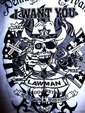 DENNIS M. O'BRYAN Lawman XL T shirt Michigan lawyer tee sexy Railroad Union