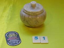 Steingut Zuckerdose Steinzeug Marmor ähnlich Dose Behälter Gewürzdose Naturstein