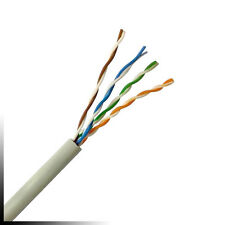 Cat 5e UTP PVC White tested to 350MHz Pure Copper Conductors - 305m Drum