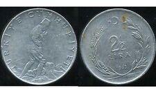 TURQUIE   2 1/2  lira 1963