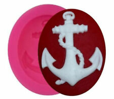 Anchor with rope Nautical Mini Silicone Mold for Fondant Chocolate Crafts