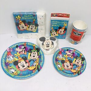 Disney Mickey Mouse & Friends Kids Birthday Party Supplies Plates Cups Napkins