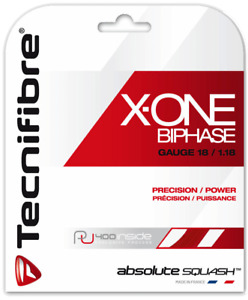 Tecnifibre X-One BiPhase 1.18 (18g) Red Squash String Set