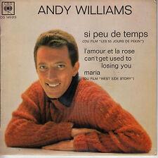 45TRS VINYL 7''/ RARE FRENCH EP ANDY WILLIAMS EN FRANCAIS / MARIA + 3