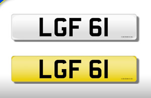 LGF 61 CHERISHED NUMBER PERSONAL PLATE