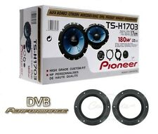 "Pioneer TS-H1703 6.5"" 2 way component speakers with VW T5 T6 Speaker mounts"