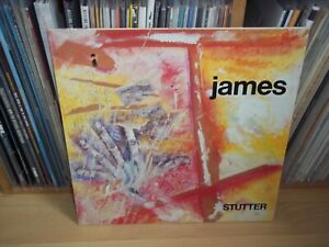 JAMES Stutter GERMAN 1986 SIRE BYN original INDIE LP with INNER Full Play Test