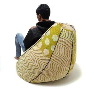 vintage kantha quilt Cotton Bohemian Bean Bag Pouffe hassock seat BD32
