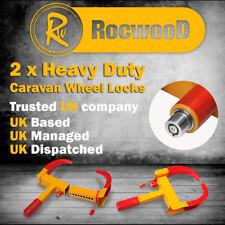 2 Heavy Duty Security Wheel Clamp Clamps Locks for Caravan Car Van Trailer Lock