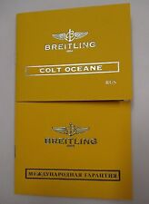 Breitling Colt Ocean Oceane Chronometre Watch Instructions & Warranty Info Books
