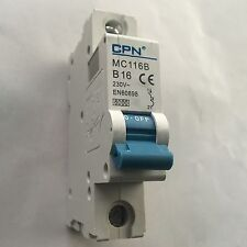 NEW CPN MC116B B16 16A CIRCUIT BREAKER MCB 16 AMP 230 V Poles 1