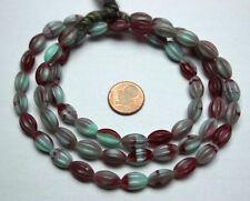 20 böhmische Barock Perlen geschliffen rot 6x6mm 10071