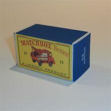 Matchbox Lesney 13 c Thames Trader Wreck Truck empty Repro D style Box