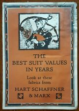Hart Schaffner & Marx * c.1930 * Suit Fabric Sample Catalog * Port Jervis, Ny