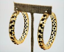 Large Transparent plastic topaz color stone  2 inch hoop fashion earring #3-46