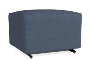 Bassett Furniture American Living Gliding Ottoman Blue New Fast Shipping OpenBox