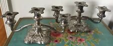 Pair Of Antique Victorian Silver Plated Candelabra  Made In England