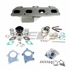 REV9 ECLIPSE 90-94 95-99 420A T3T4 T04E MANIFOLD TURBO CHARGER SET UP KIT
