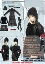 1/6 Dollsfigure Gothic Female Clothes Leather Set CC98