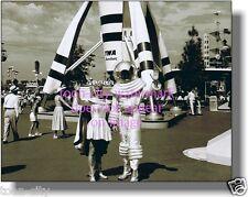 Walt Disney Disneyland Mr & Mrs SPACEMAN Tomorrowland NEWLY printed photo 8x10