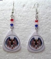 Patriotic Eagle Dangle Hypoallergenic Wire Earrings