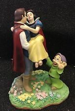 Snow White the Prince and Dopey Disney figurine