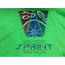 """Triathlon Transition Towel 59"""" x 31"""" Green High Point Sprint Tri Logo"""