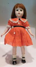"Very Cute Vintage Adorable Unmarked 17"" Hard Plastic Doll Nancy Ann Type"