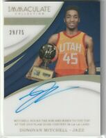 2017-18 Panini Immaculate Donovan Mitchell Moments Auto Autograph Card 29/75