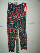 NWT! Mens Small Marvel Deadpool Lounge Sleep Pajamas Pants! CHRISTmas!