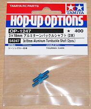 Tamiya 54247 3x18mm Aluminum Turnbuckle Shaft (2 Pcs.) (TRF417/TRF418/TRF419)