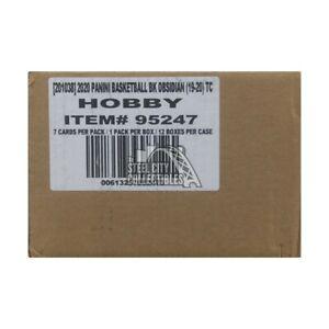 2019-20 Panini Obsidian Basketball Hobby 12-Box Case