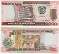 Mozambique 50000 Meticais 1993 P-138 UNC Uncirculated Inflation Banknote