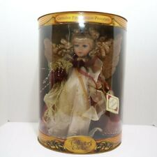 """Collector's Choice Bisque Porcelain Angel Doll - Crystal NIB (13"""")"""
