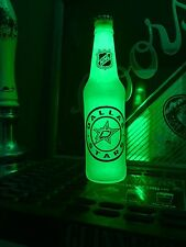 NHL Dallas Stars Hockey 12 oz Beer Bottle Light LED Bar Man Cave