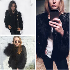 Women's Autumn Winter Warm Fluffy Faux Fur Jacket Coat Outerwear Party Ovetcoat