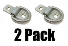 "(2) 3/8"" STEEL D RING TIE DOWNS Heavy Duty Chain Rope Strap Cable Anchor Bolt on"