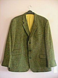 John Hanley 48 in - 122 cm Olive Speckle 100% Wool Irish Tweed Sports Jacket NEW